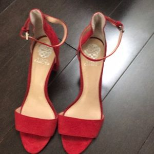 Worn Once. Red Vince Camuto Sandals.